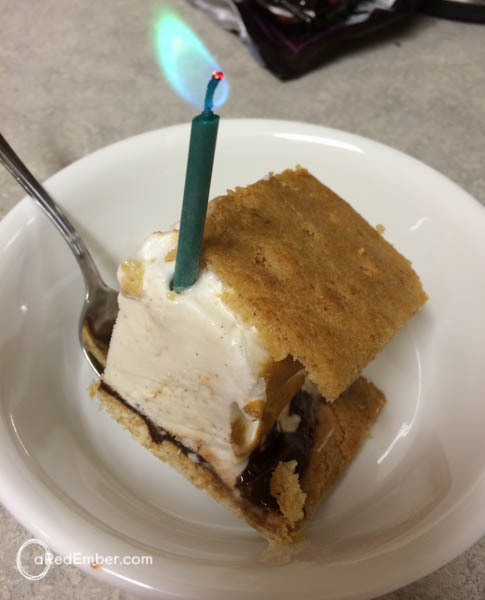 s'more birthday cake