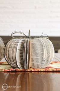 fall book decor