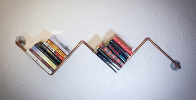 Copper Pipe Bookshelf