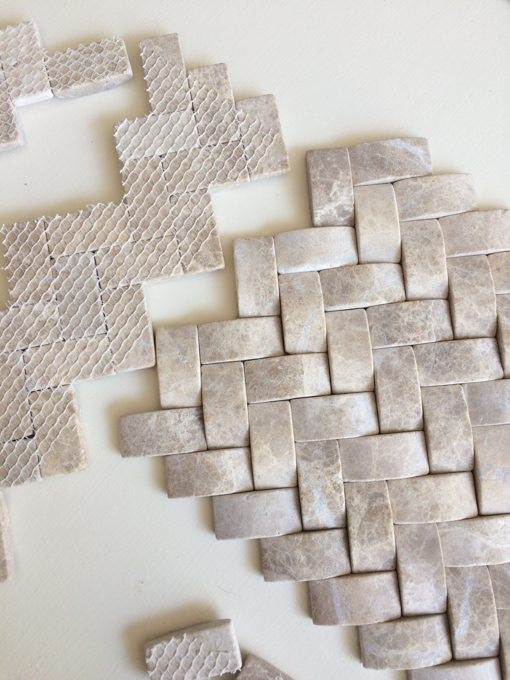 repurpose backsplash tile