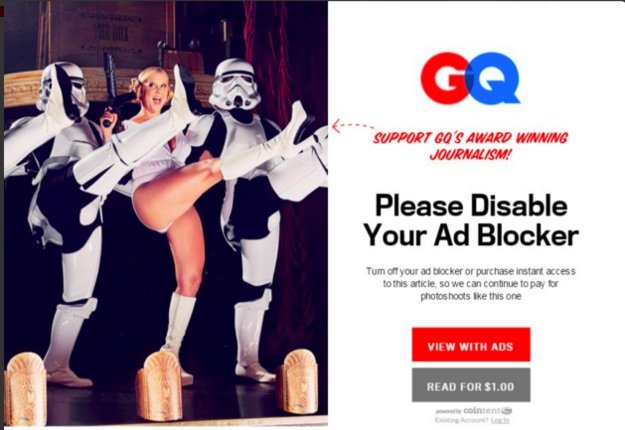The shame of using an ad-blocker