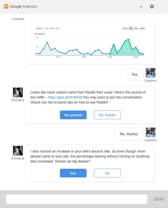 Conversational UI
