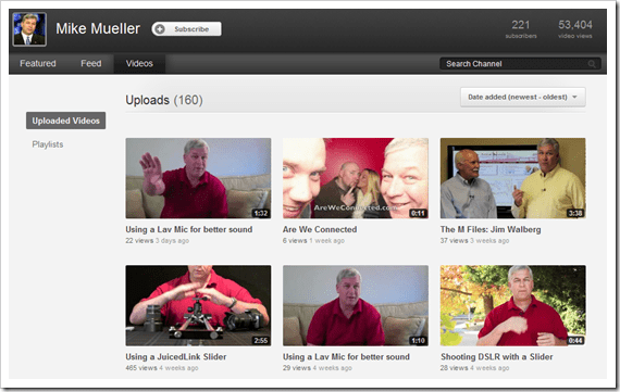 Mike's Video Tab