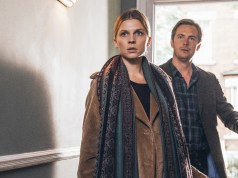 Clémence Poésy and Stephen Campbell Moore in THE ONES BELOW, a Magnolia Pictures release.