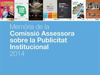 Memòria de la Comissió Assessora sobre la Publicitat Institucional