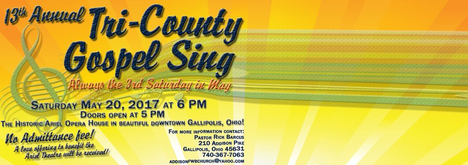 13th Annual Tri-County Gospel Sing