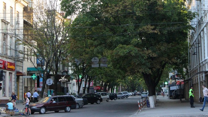 A street in the center of Chisinau.