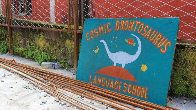 I studied Nepali at Cosmic Brontosaurus Language School in Pokhara.