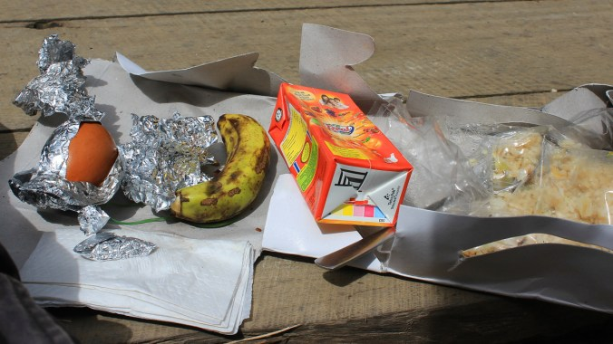 The walking tour also included a packed lunch!