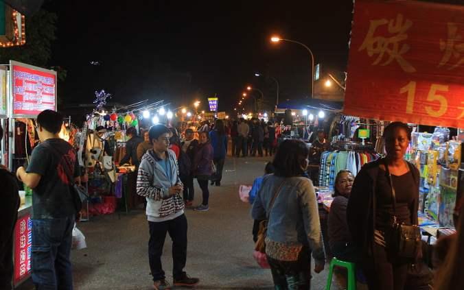 Xinsheng Night Market near Hualei.