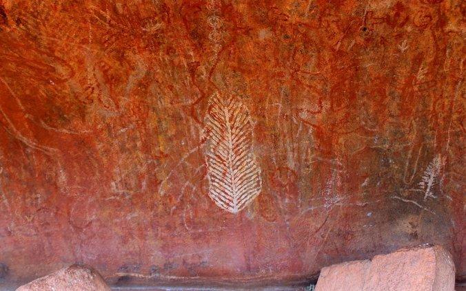 Rock art at Kantju Gorge.