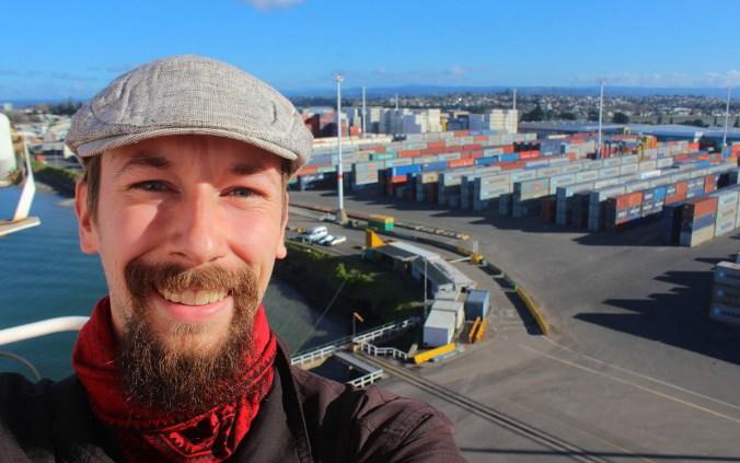 Arimo Koo at the Port of Tauranga, New Zealand.