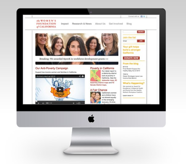 Women's Foundation of CA web design