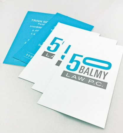 50 Balmy Law Business Card Design