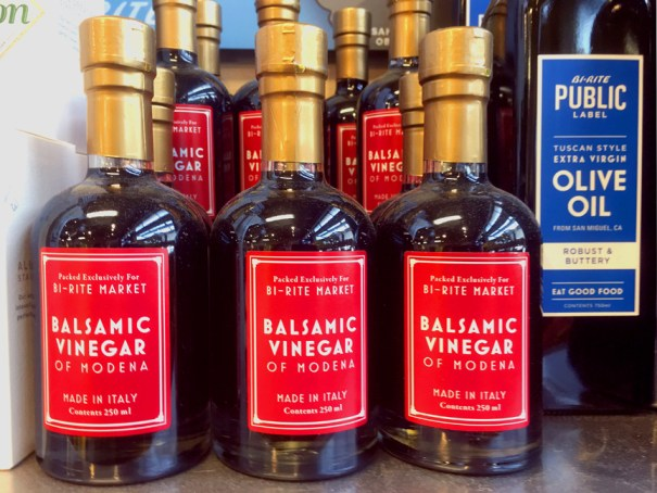 Bi-Rite market balsamic vinegar food packaging design