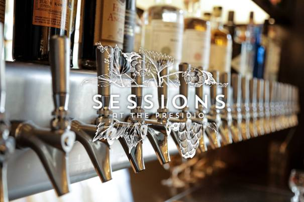 Sessions at the Presidio logo and branding