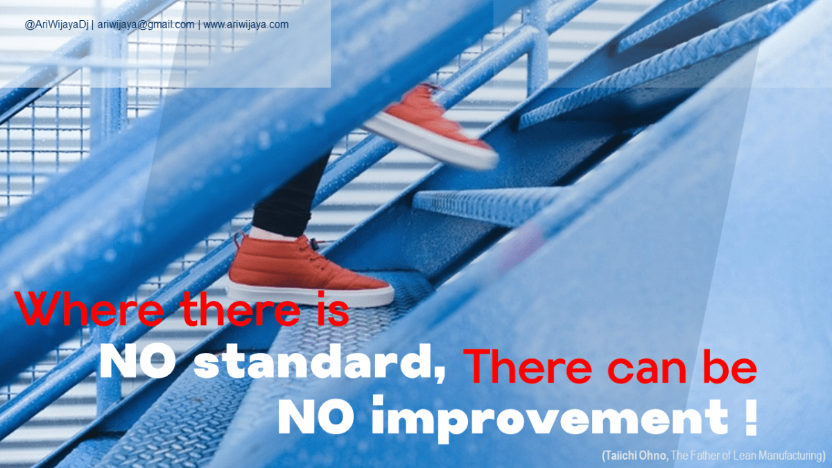 no standard no improvement