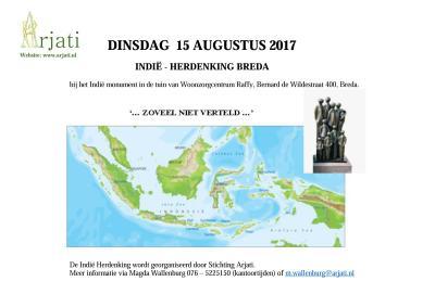 poster herdenking 15-08-2017