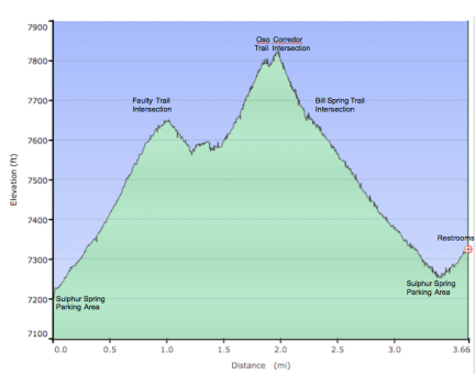 Sulphur Spring - Bill Spring Elevation Profile