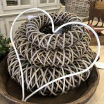 Rustic wrought iron hearts, from arkvintage.com