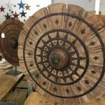 Reclaimed wooden wheels
