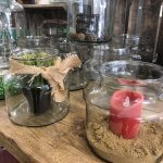 Vintage Glass Jars buy online now £14.95 each. Beautiful hand made artisan glass from Hungary. They make great candle holders, planters Hungarian