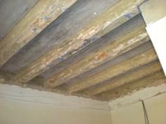 Estado inicial del forjado de vigas de madera