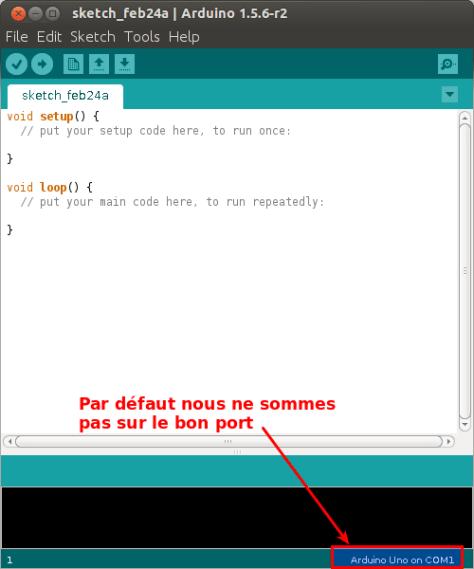 L'ide Arduino 1.5.6 au premier lancement