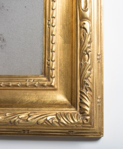 Gold mirrors with custom leafed frames