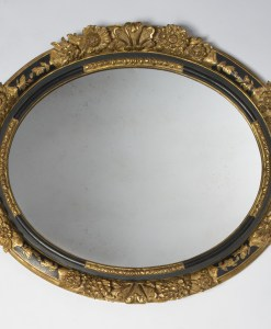 Gold and Black Floral Mirror