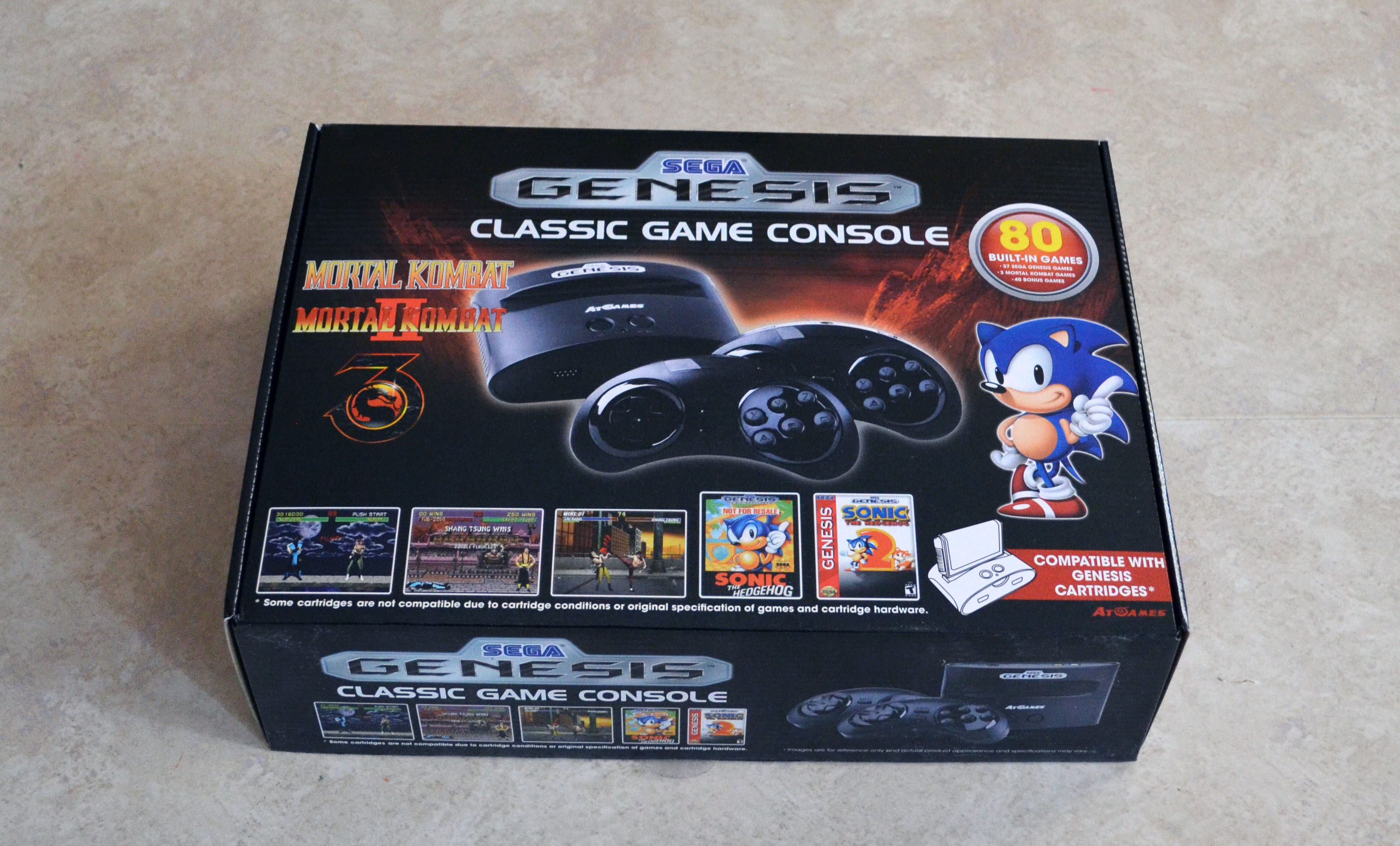 Sega genesis classic game console 2015 the official - Sega genesis classic console with built in games ...