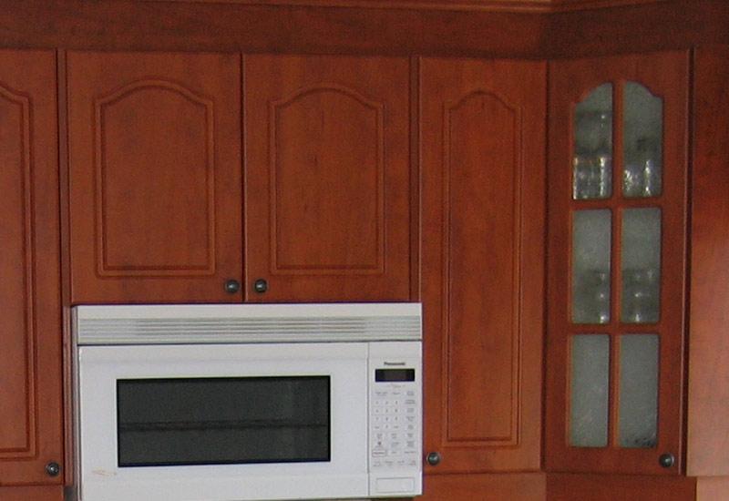 Cuisine en thermoplastique mod le cath drale carr for Armoire cuisine prix