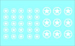Black Lion decals 1/72nd Allied White Stars - Full Circle