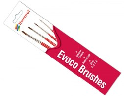 Humbrol Evoco Brushes Sizes 0,2,4 & 6