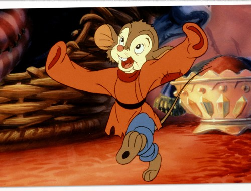 Look how happy he is, and cuter than Rizzo. Dance your cute happy ass out of here, Fievel.
