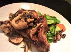 Distinguished When I See Veal Chops At Our Local A Done Similar Inappearance To A Pork Veal Chops Are Much Moretender Veal Chops Wild Mushrooms Herbs Around Table