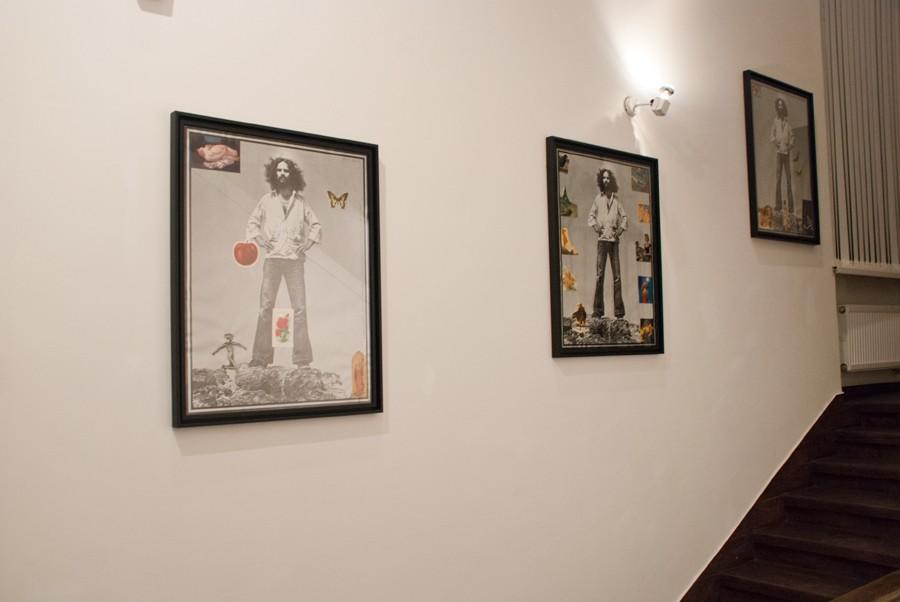 Михаил Гробман « 4 выставки», лестничный пролет, ММСИ, Москва, 2013 // Фото: Ольга Данилкина