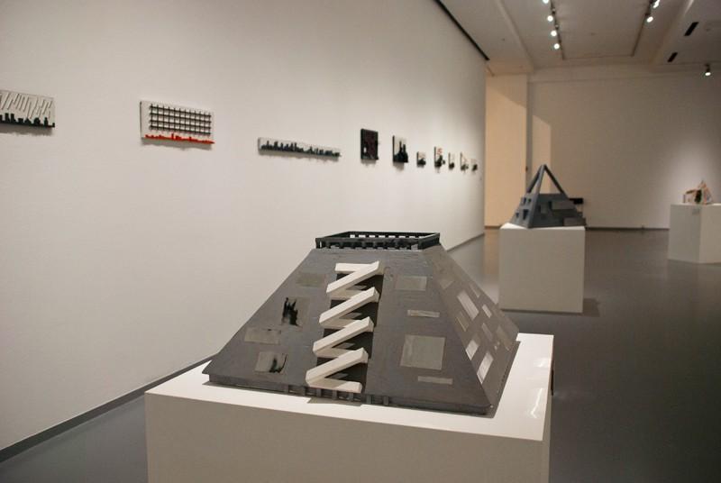 Проект музея современного искусства II. 2010. Дерево, пигмент, картон. Собственность автора