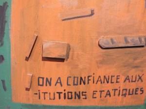 """Фрагмент картины """"On a confiance..."""", 1988 // Частное собрание"""