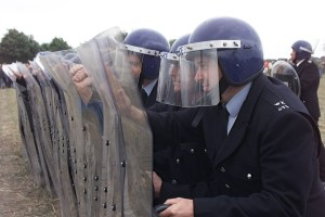 Jeremy Deller's re-enactment of the Battle of Orgreave,