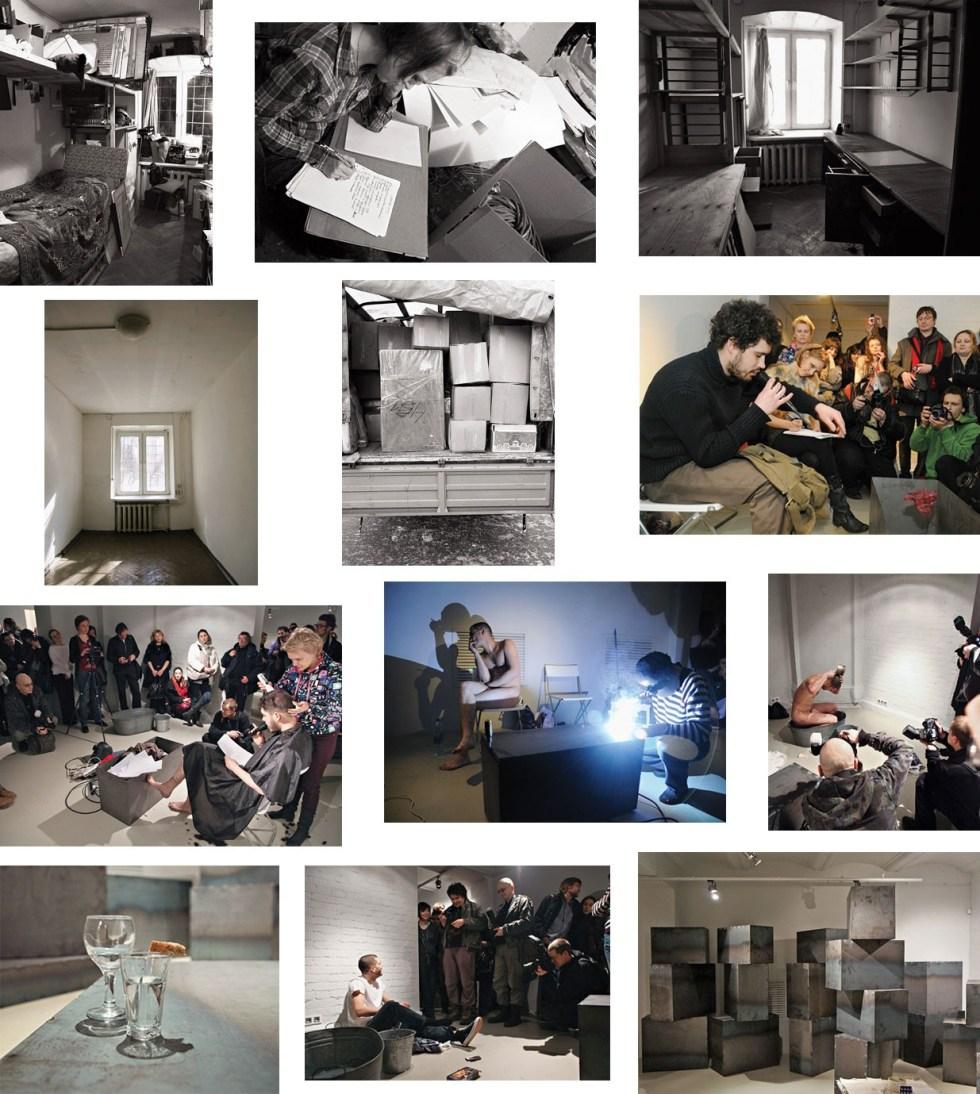 Андрей Кузькин. Все впереди! 2011. Фотодокументация перформанса // Фото: open-gallery.ru