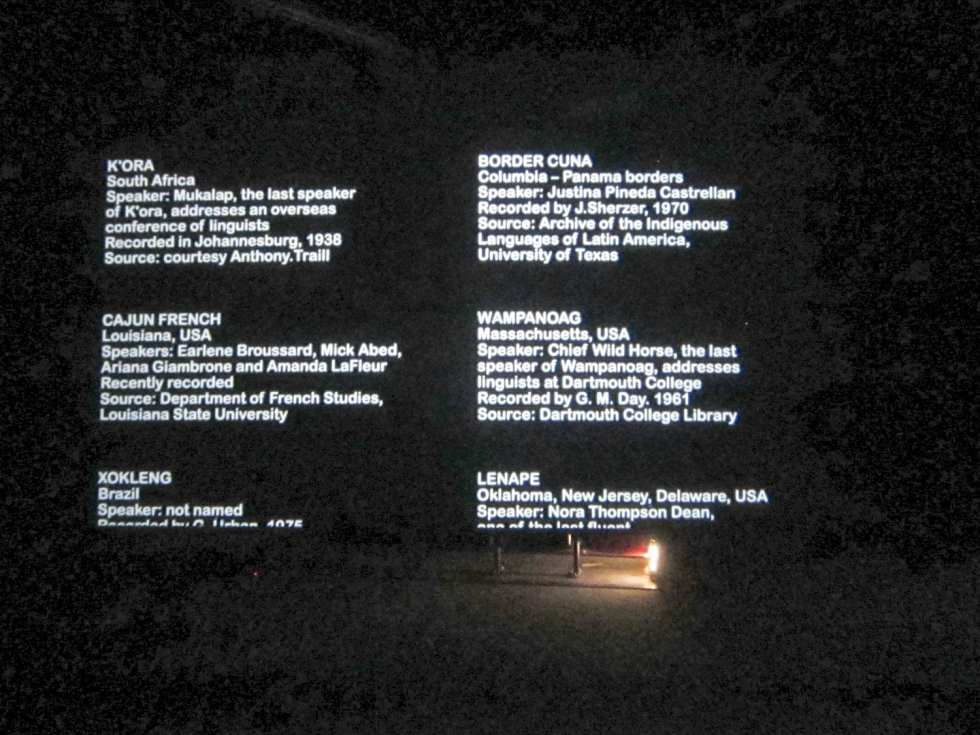 Susan Hiller. The Last Silent Movie. 2007–08