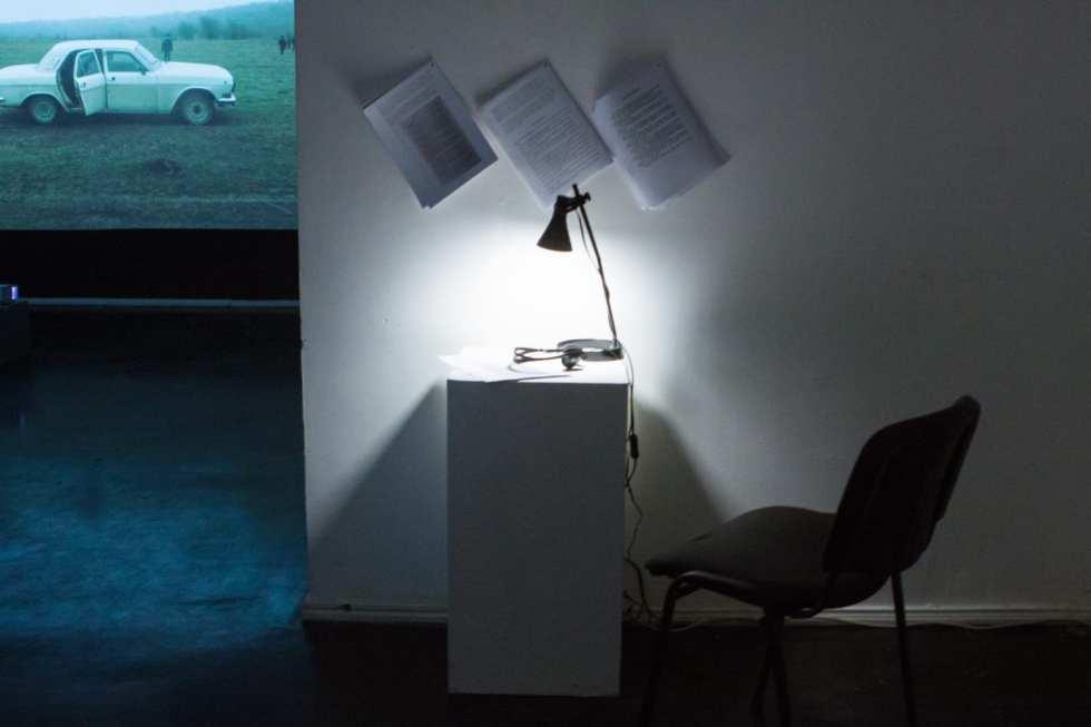 Айрин Анастас и Рэне Габри, «На Масличной горе»; вид экспозиции