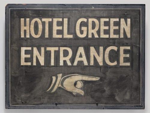 Марсель Дюшан. Подписанный знак (Signed sign), 1963, собрание Денниса Хоппера, Венеция (Калифорния).