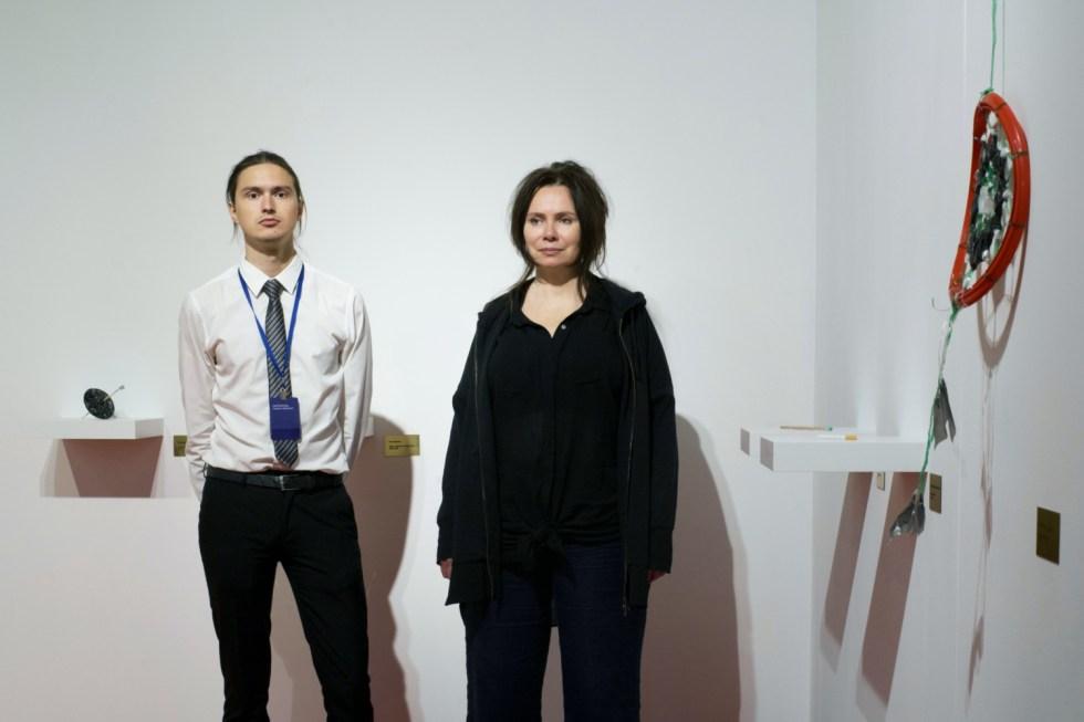 Андрей Ишонин и Светлана Баскова, директор института База. Фото Кристина Матвеева.