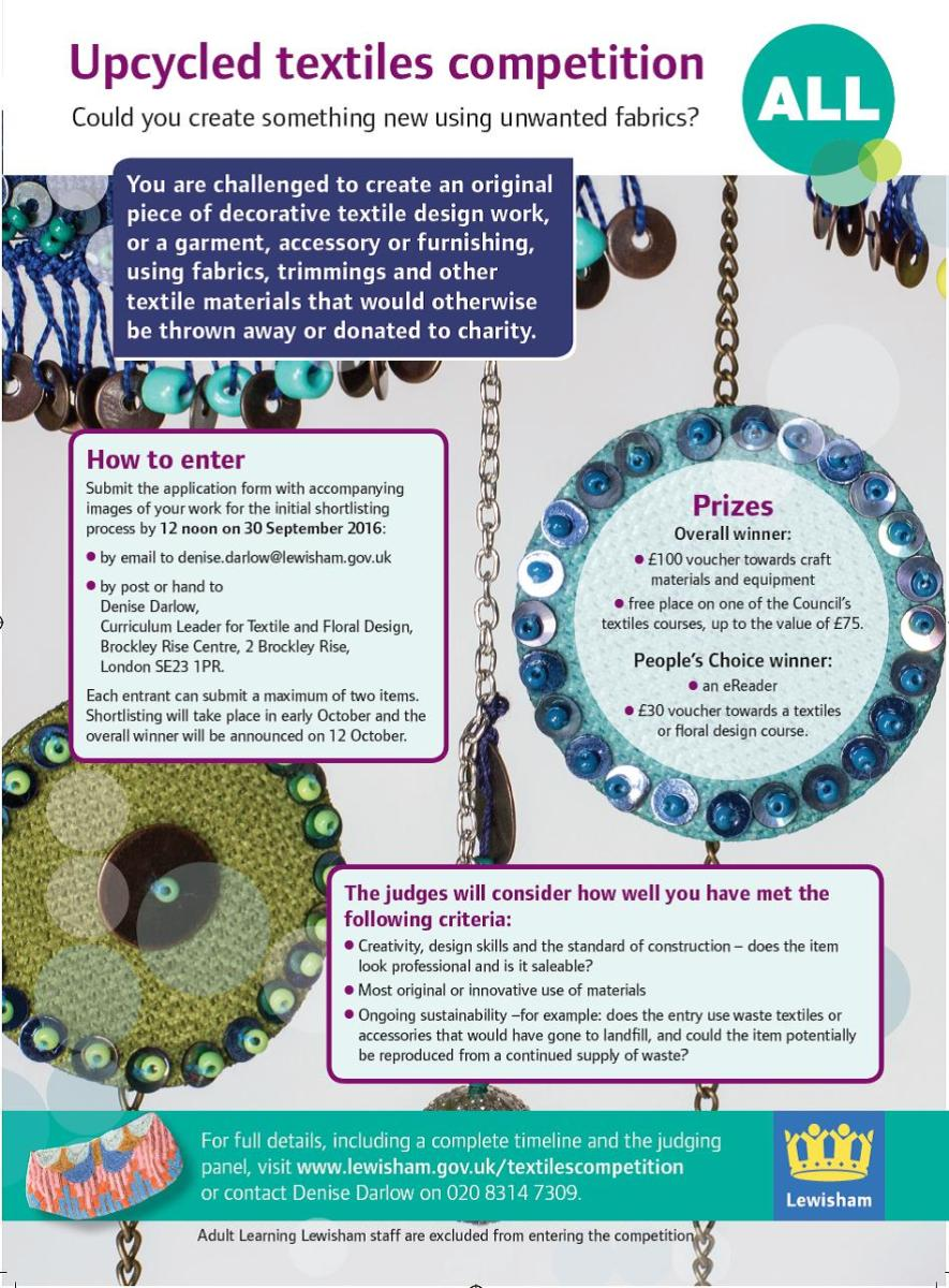 Upcycled textiles competition