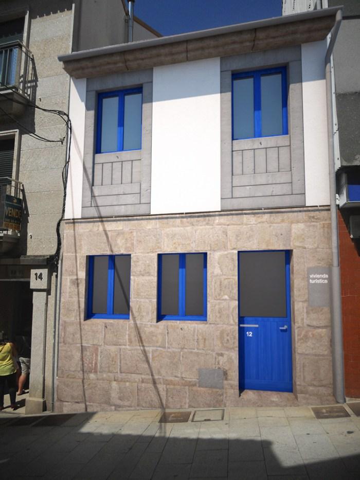 Estudio de fachadas para rehabilitaci n de vivenda no - Arquitectos en pontevedra ...