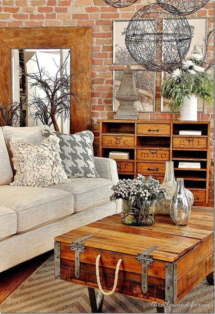Salotto industriale chic con tessuti di canapa e tela for Salotto stile industriale