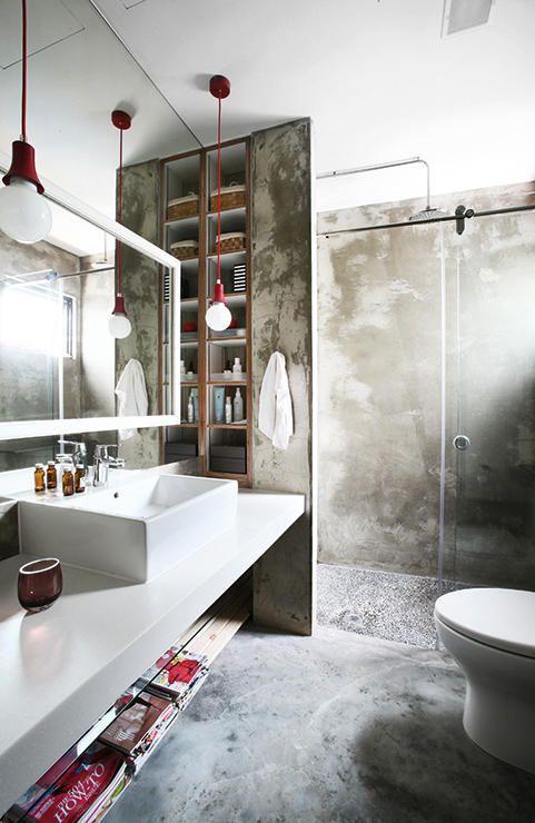 bagno industriale chic - Arredamento Shabby