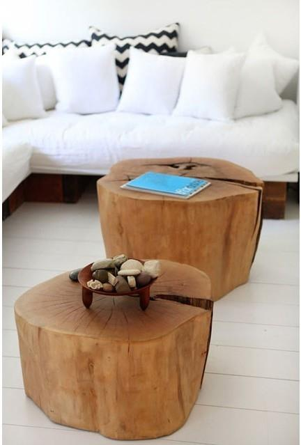 tronco d albero come tavolino o comodino arredamento shabby